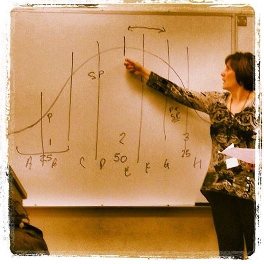 Mary explaining Screenwring Sequences at George Fox University